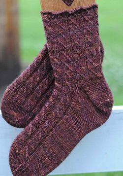 Finished cable twist sock1