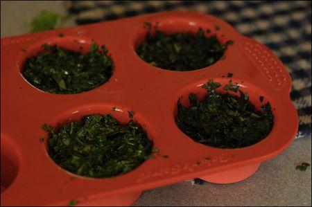 Basil cupcakes