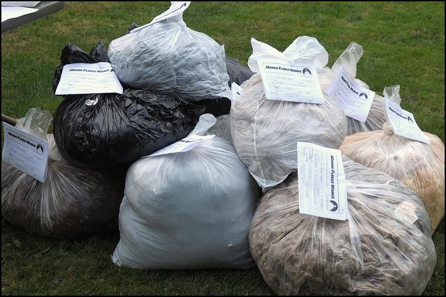 Bags of fleece