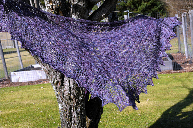 Echo flowers shawl