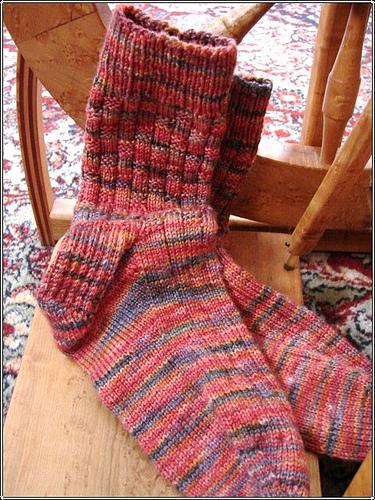 Basket weave socks